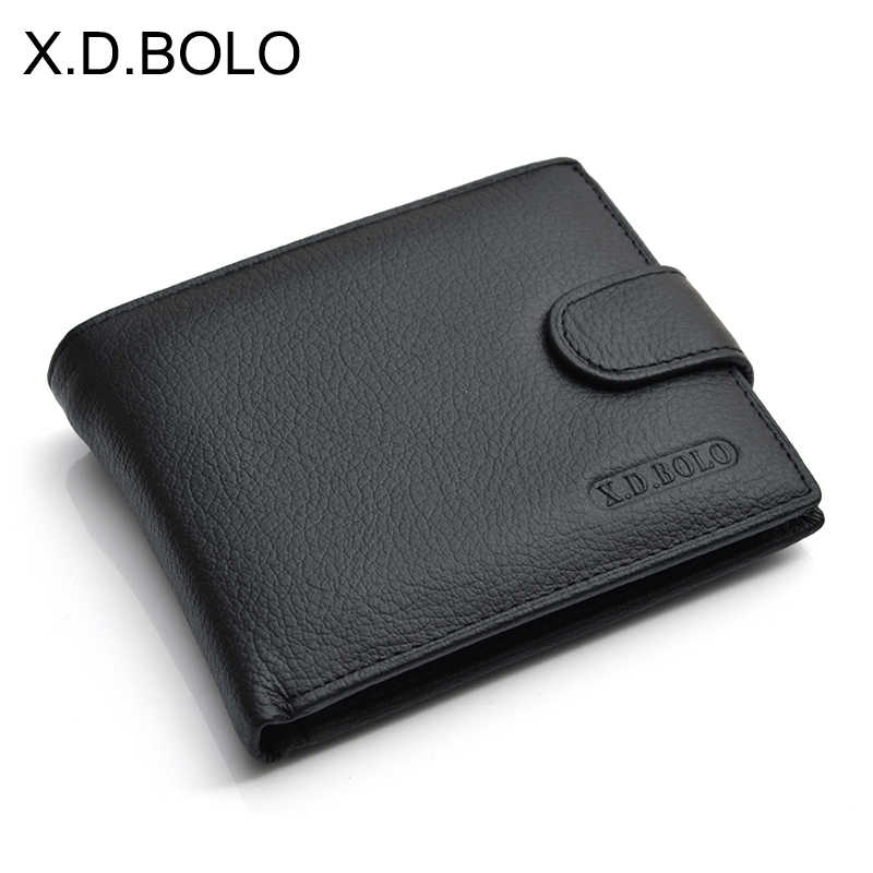 X.D.BOLO Wallet Men Leather Genuine Cow Leather Man Wallets With Coin Pocket Man Purse leather Money Bag Male Wallets Wholesale