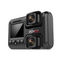 Видеорегистратор Fhd1440P двойные передние камеры видео Рекордеры Sony323 с поддержкой Wi Fi Функция Autoregistrant автомобильные камеры Hi Dden тире Камера