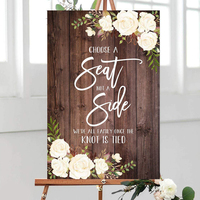 Wood Plaque Rustic Choose a Seat not a Side Sign,Wedding Ceremony Sign Welcome Wedding Sign Wedding Sign Printable White Flowers