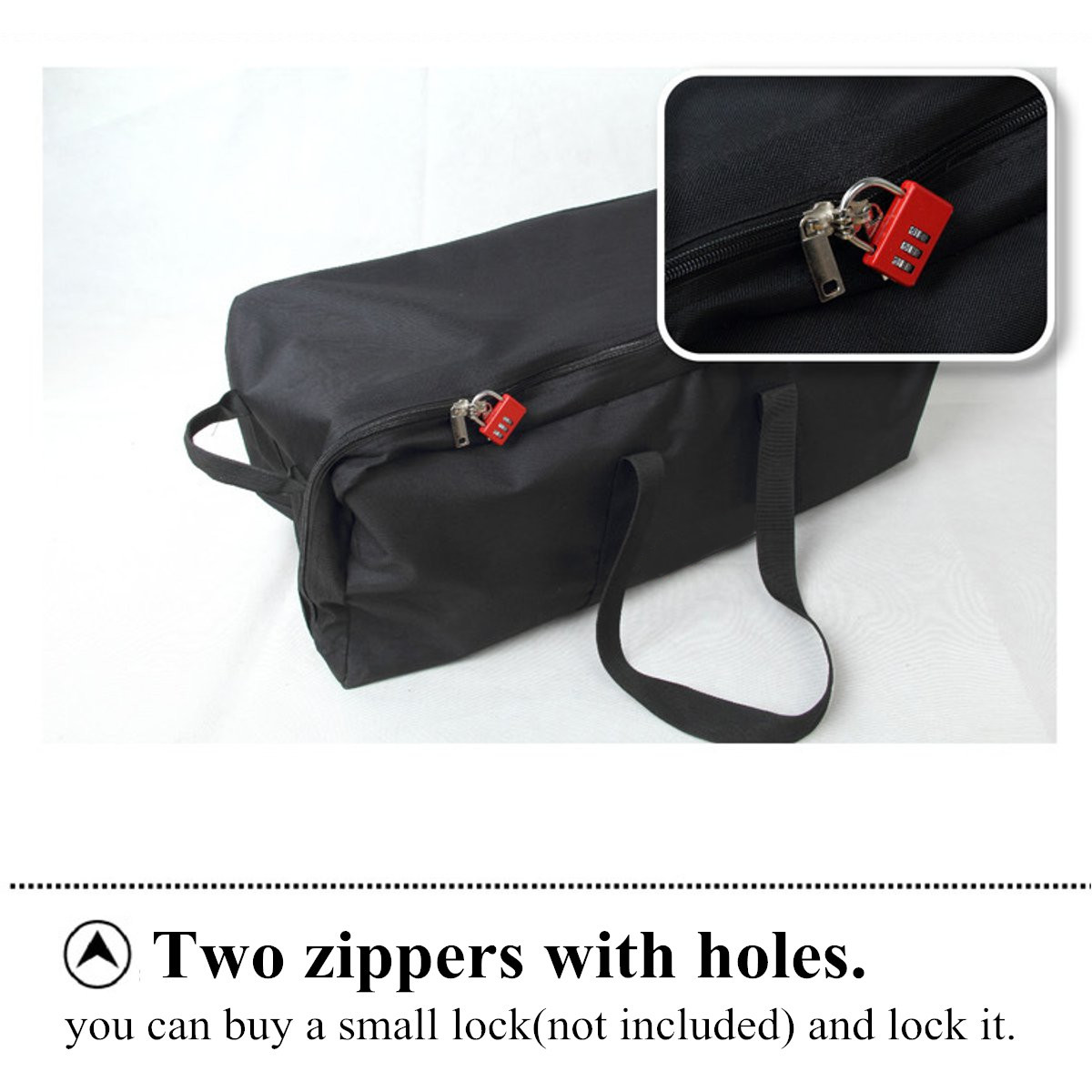 Travel Luggage Duffle Bag Lightweight Portable Handbag Golden Black Hole Large Capacity Waterproof Foldable Storage Tote