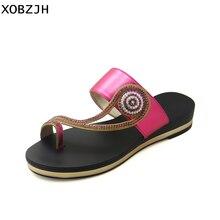 купить XOBZJH Summer Shoes Women Platform Sandals 2019 Rhinestone Wedges Sandals Slippers Peep Toe Ladies Flip Flops Plus Size US 11 по цене 2577.15 рублей