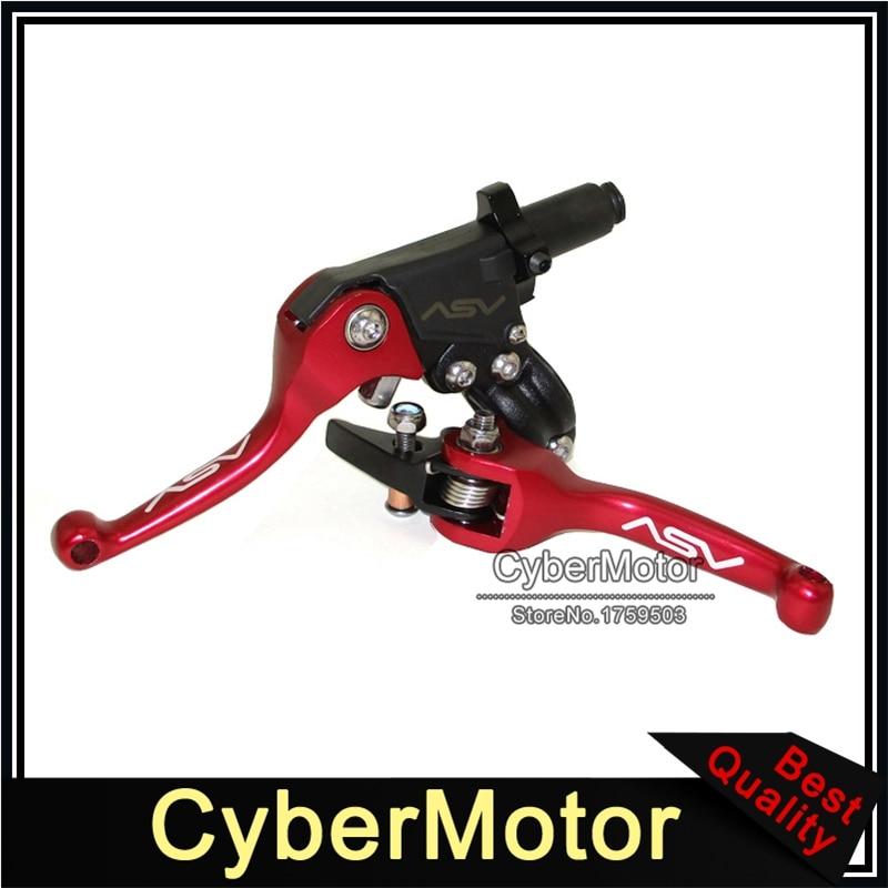 ASV F3 Unbreakable Folding Pro Clutch Lever Red Honda Suzuki Kawasaki TRX LTZ