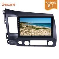Seicane 10,1 2Din Android 8,1 автомобилей Радио сенсорный GPS; Мультимедийный проигрыватель для 2006 2007 2008 2009 2010 2011 Honda Civic