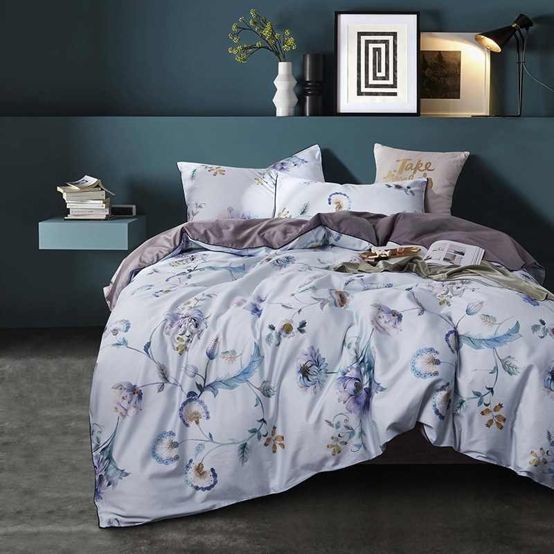 TUTUBIRD-Европейский сатиновый Комплект постельного белья, 100% Египетский хлопок, пасторальная принцесса, простыня, постельное белье, пододеяльник, Королевский размер, 4 шт.