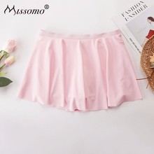Missomo Sexy Women Hip-Wrapped Pink Swimming Trunks Open Skirt fashion beautiful slim wrapped skirt for women deep pink