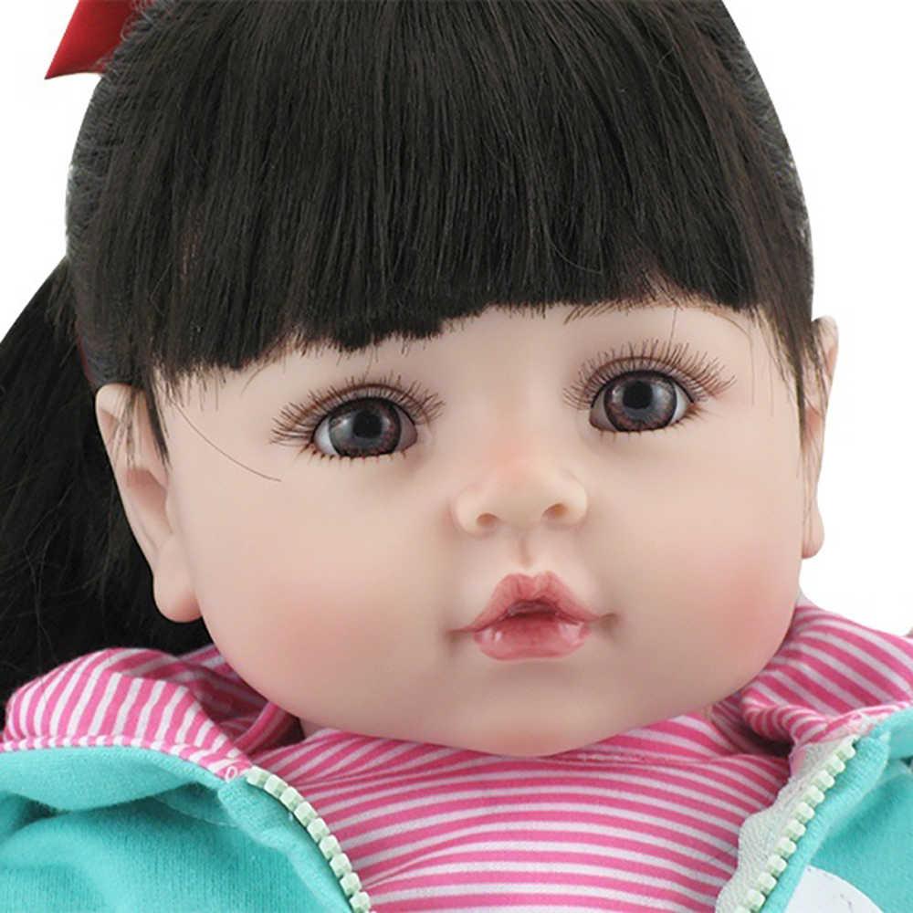 Genuine NPK 48cm 19 ''Realista Silicone De Corpo Inteiro Bonecas Reborn Bonecas Artesanais Bebê Menino Crianças Brinquedo Boneca Modelo presentes de aniversário bebe reborn menino