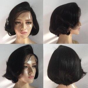 Image 3 - Sunnymay 13x4 פאת בוב 130% גלי תחרה מול שיער טבעי פאה עם תינוק שיער Glueless רמי שיער קצר תחרה מול פאות מולבן קשרים