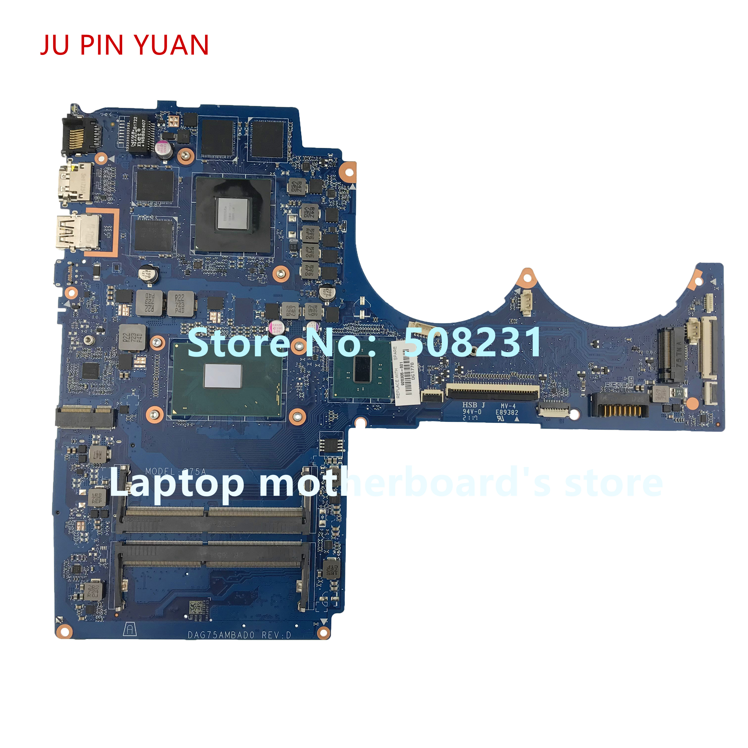 JU PIN YUAN 926305-601 G75A DAG75AMBAD0 For HP Pavilion Power Laptop 15-CB Laptop Motherboard GTX1050 4GB <font><b>i7</b></font>-<font><b>7700</b></font> fully Tested image