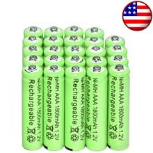 4/12/20/28/32/44 шт ААА батареи оптом Никель гидрид Перезаряжаемые металл-гидридных или никель 1800 мА/ч, 1,2 V зеленый