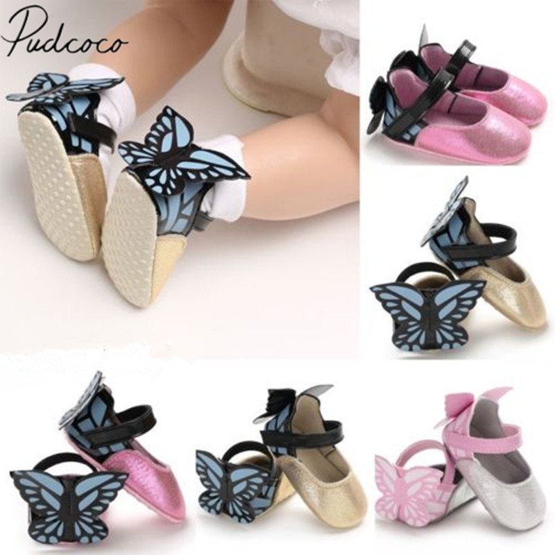 Shoes First-Walkers Newborn Butterfly Infant Baby-Girl Princess Fashion Brand-New Kid