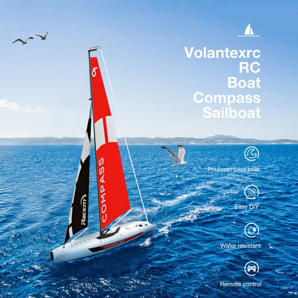 Volantexrc 791-1 65CM 2.4G Size 4CH RC Boat 17G Waterproof Servo Compass Pre-Assembled Sailboat Without Battery ToyVolantexrc 791-1 65CM 2.4G Size 4CH RC Boat 17G Waterproof Servo Compass Pre-Assembled Sailboat Without Battery Toy