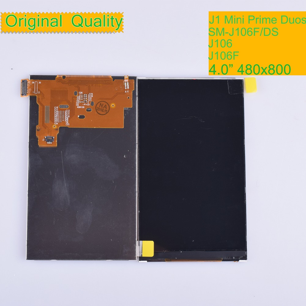 Image 1 - 10Pcs/lot ORIGINAL For Samsung Galaxy J1 Mini Prime DUOS J106 J106F J106H SM J106F/DS LCD Display Screen SM J106 Display Screen-in Mobile Phone LCD Screens from Cellphones & Telecommunications