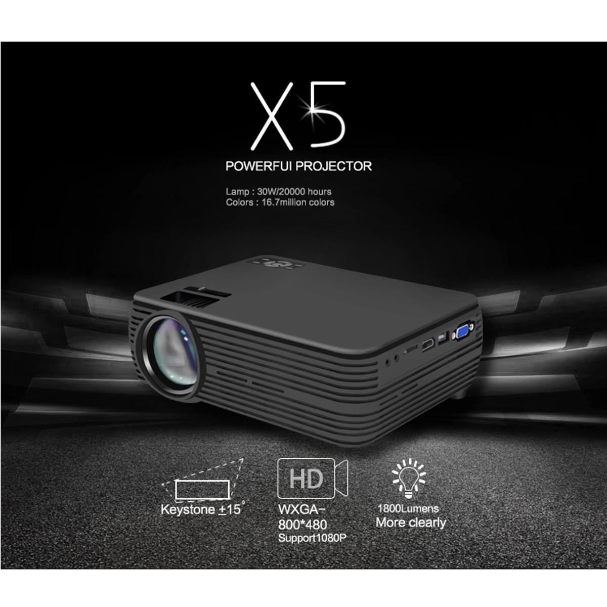 Mini projecteur 7000 Lumens 1080 P FHD Wifi bluetooth Home cinéma Android 6.0X5 haut-parleur Home cinéma