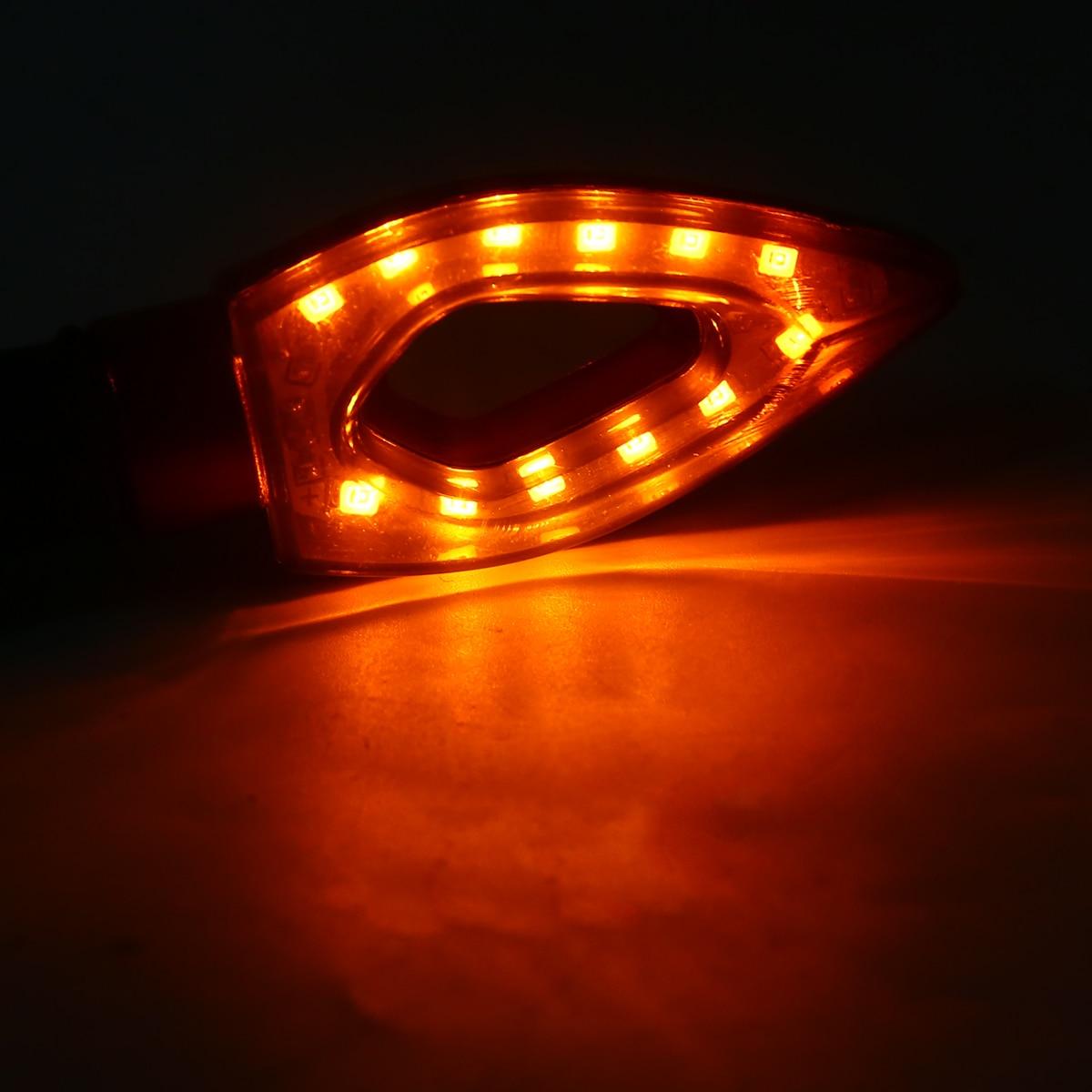4pcs 12V Universal Moto LED Turn Signal Light Indicators Flashers Amber Blinker Light Motorcycle Accessories