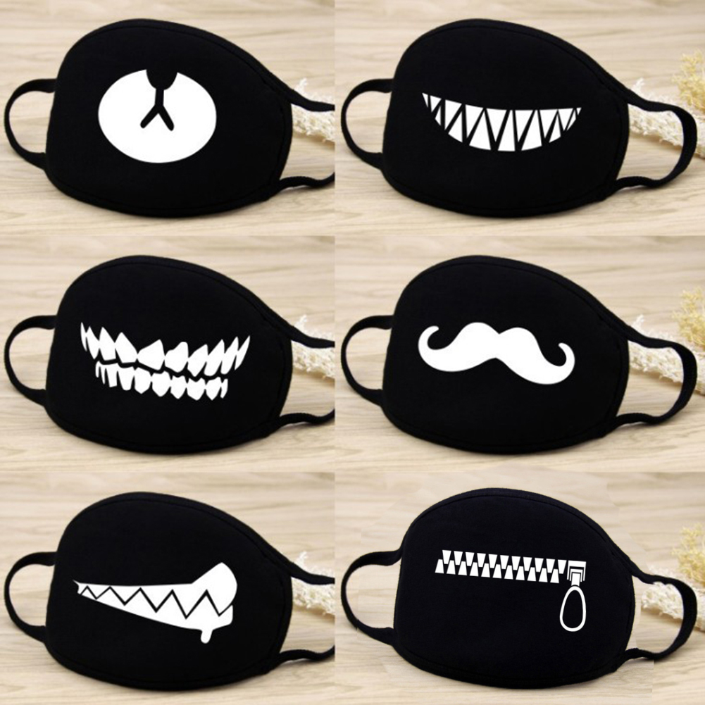 Face Mouth Mask Unisex 12 Style Camouflage Mouth-muffle Unisex Respirator Stop Air Pollution Cartoon Lovely Cotton Mask