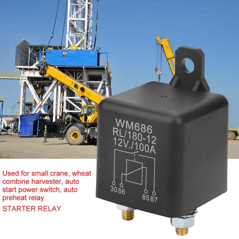 Wm686 100a Car Starter Relay Normal Open Heavy Duty Car