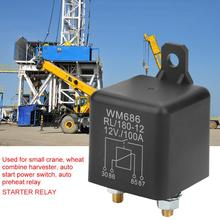 WM686 100A Car Starter Relay Normal Open Heavy Duty Car Starter Relay for Control Battery ONOFF RL180 DC 12V Normally Open new automotive relay 12v 100a 5pin spdt car control device car relays automobile parts