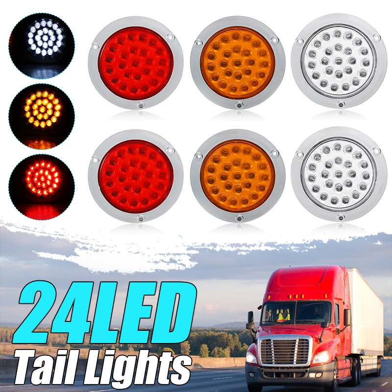 1 Pair 12V//24V 24LED Side Lights Tail Light Lamp for Car Trailer Truck Caravan Car LED Light