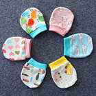 6 Pairs Baby Mitten Cartoon Lovely No Scratch Mitten Newborn Mitten Baby Anti Scratching Gloves Newborn Protection Face