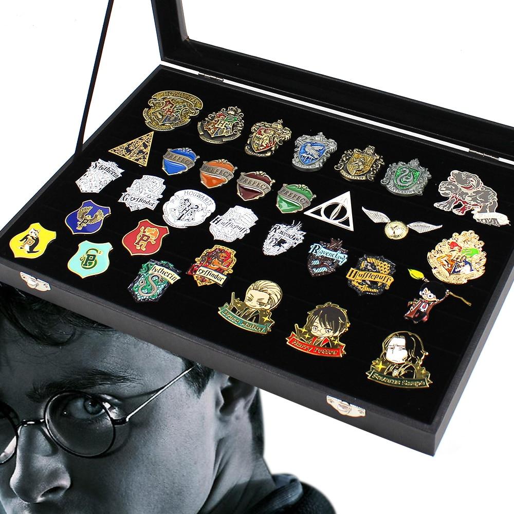 OHCOMICS 32 pièces Harri Potter Harry gryffondor Ravenclaw/Hufflepuff/Slytherin métal or mouchard Badge broche broche poitrine cadeau