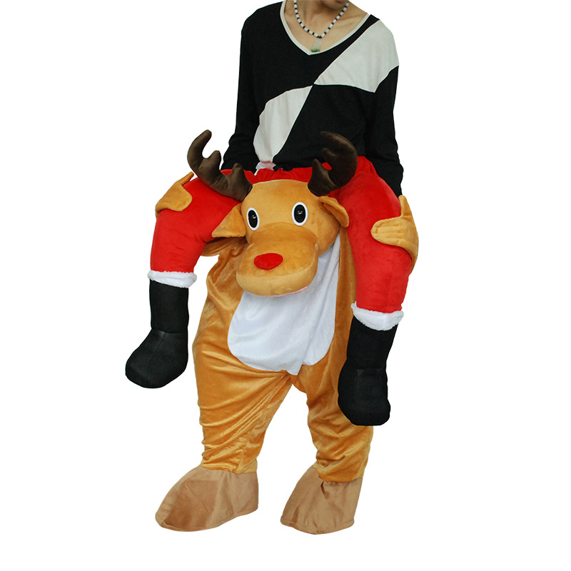 Christmas Deer Carnival Costume for Adult Cosplay Funny Party Dress Animal Cosplay Halloween