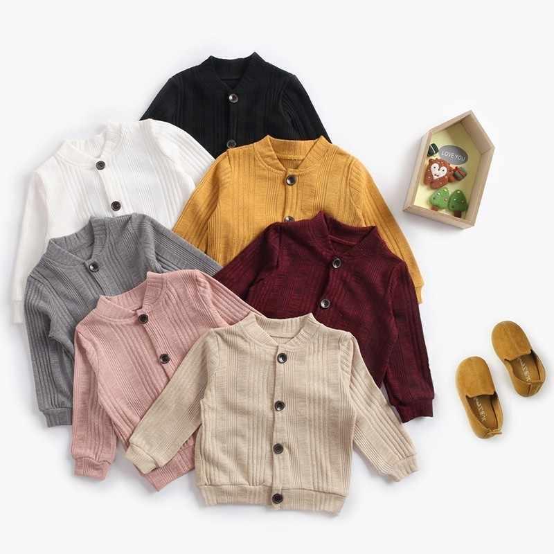 4eced616f Soboba Kids Coat Solid Woolen Long Sleeve Cardigans O-neck Jackets for Newborn  Baby Elegant