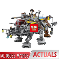 Lepin 05032 Star Series Wars The Captain Rex's AT TE Building Blocks Lepin Boys Toys Gift compatible legoINGLY 75157 Model