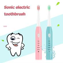 5 Mode Adjustable Electric Toothbrush Waterproof USB Rechargeable Ultrasonic Automatic With 4pcs Brush Head