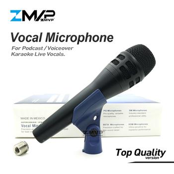 Najwyższa jakość wersja KSM8 profesjonalny wokal na żywo KSM8HS dynamiczny przewodowy mikrofon Karaoke super-kardioidalny Podcast Microfono Mic tanie i dobre opinie zmvp Kardioidalna Karaoke mikrofon Mikrofon ręczny TQ Version Microphone Pojedyncze Mikrofon Dynamiczny Mikrofon China (Mainland)