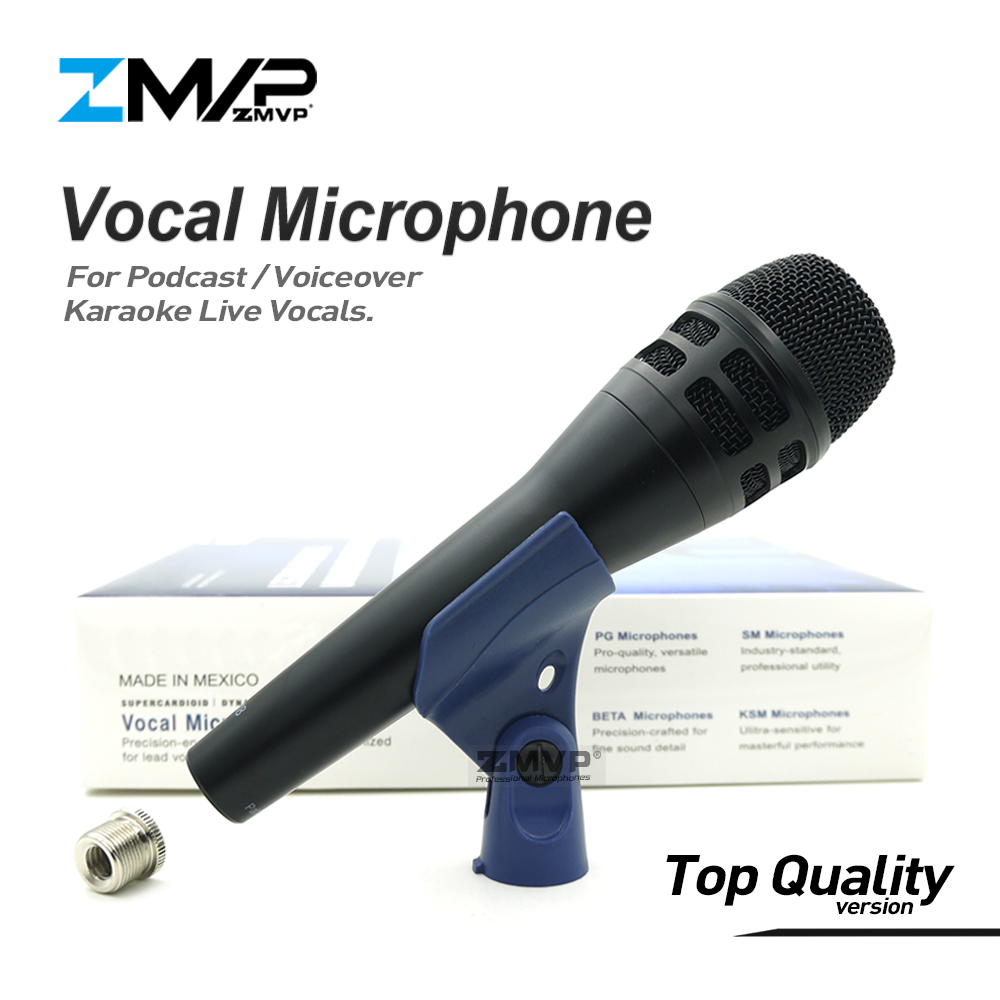Top Quality Version KSM8 Professional Live Vocals KSM8HS Dynamic Wired Microphone Karaoke Super-Cardioid Podcast Microfono Mic
