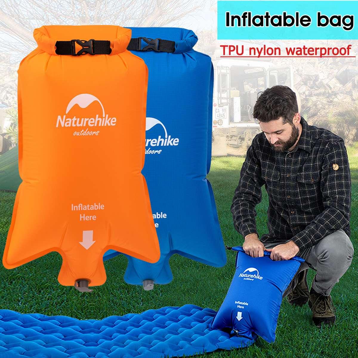 Naturehike Моющийся Портативный стильный нейлоновый надувной мешок, Водонепроницаемый сухой мешок для воздушных матрацев, спальный коврик, ков...