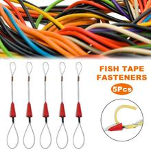 Fio vermelho portátil tração peixe fita de fibra de vidro peixe ferramenta de pesca carretel extrator canalização duto rodder puxando cabo de fio