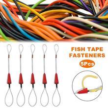 Taşınabilir kırmızı tel çekiş misina fiberglas misina balıkçılık aracı makarası çektirme boru kanalı Rodder çekme tel kablo