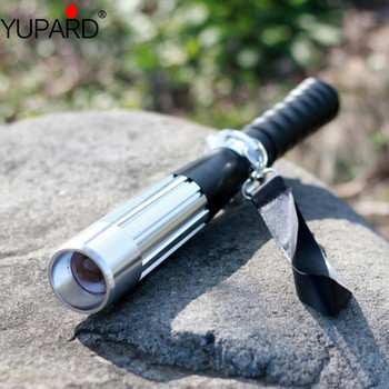 YUPARD Tactical Bat Zoom led XML-2 L2 Q5 Flashlight Self defense Torch camping 3 Mode 18650 Rechargeable Battery or AAA