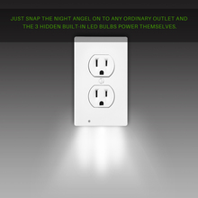 Wall Outlet Cover Plate with LED Lights Safty Light Sensor Plug Coverplate Socket Switch Cover Stickers for Bathroom Bedroom(China)