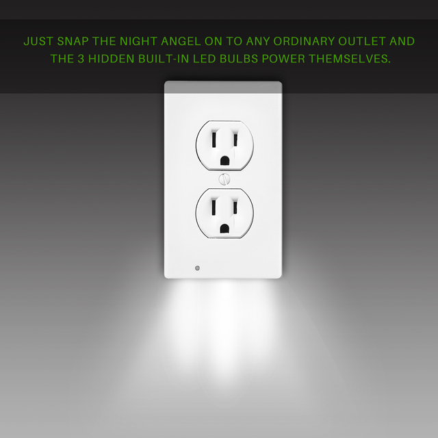 Wall  Plug Outlet Cover Plate with LED Lights