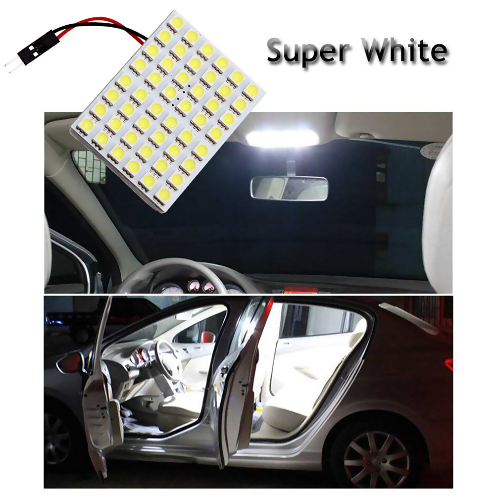 48 SMD Panel Led Car T10 BA9S Festoon Dome Interior Lamp Car Reading Light Car Dome Map Interior Bulb