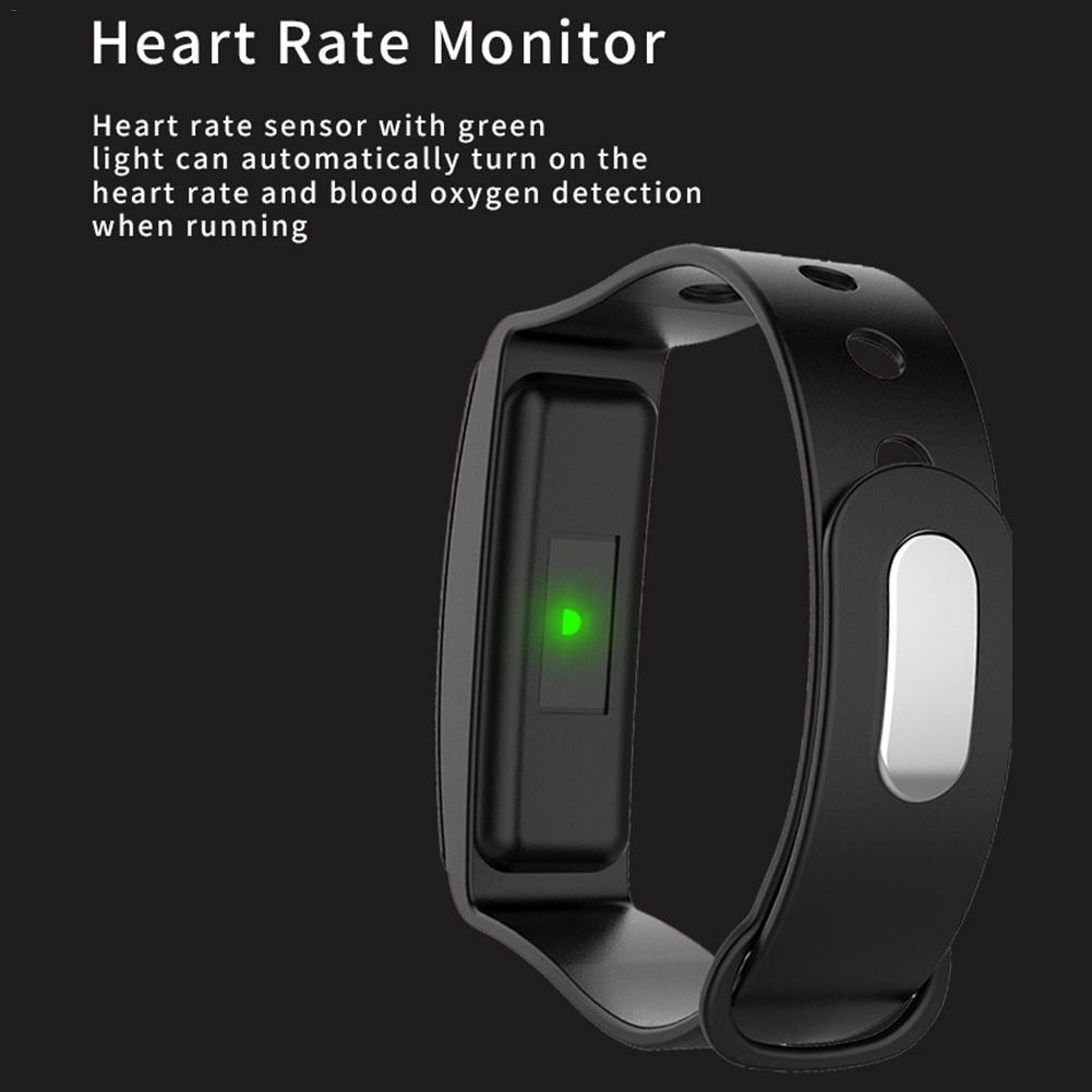 Image 3 - B4 Color Screen Sports Smart Bracelet Heart Rate Blood Pressure Sleep Monitoring Health Fitness Tracker Color Box Charging Cable-in Smart Wristbands from Consumer Electronics