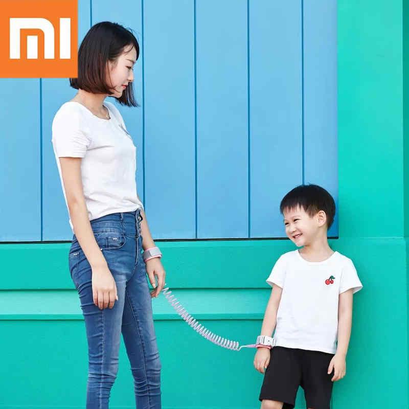 Recente chegou xiaomi mijia 2 m anti-perdido cinta pulseira de segurança ajustável bebê crianças tração corda pulseira 63