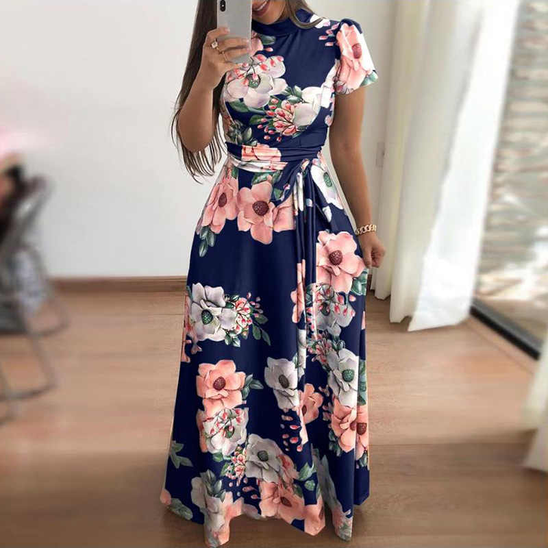 b0af33a2340db Detail Feedback Questions about 2019 Women Long Maxi Dress Vintage ...