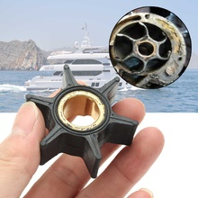 18 3051 395289 Water Pump Impeller For Johnson Evinrude 20/25/30/35HP Outboard Motor 5.1cm  Black Rubber 6 Blades Boat Parts