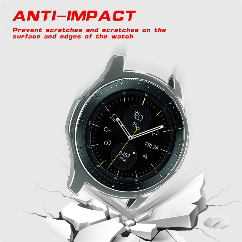 Image 5 - 360 Degree TPU Protector Case Scratch proof Anti fall Cover Protective Shell For Samsung Galaxy Watch 42MM 46MM Gear S3 Frontier-in Smart Accessories from Consumer Electronics