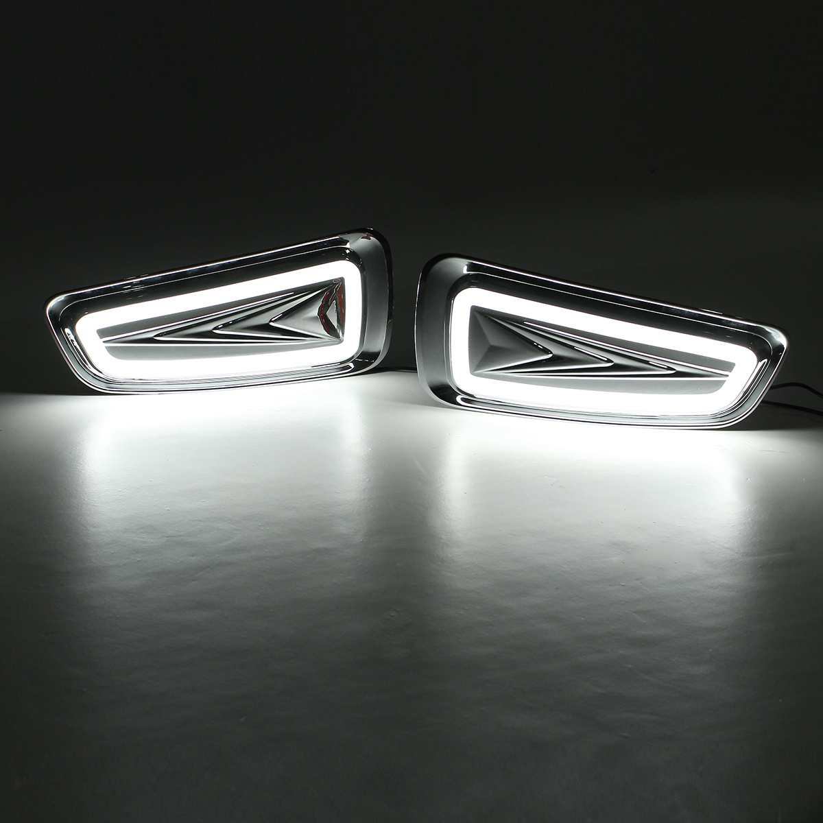 12-24V White LED DRL Daytime Running Light Fog Lamps Left Right For Ford F150 Raptor SVT DRL 2009 2010 2011 2012 2013 2014 201512-24V White LED DRL Daytime Running Light Fog Lamps Left Right For Ford F150 Raptor SVT DRL 2009 2010 2011 2012 2013 2014 2015