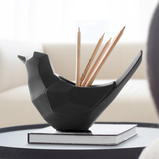 Geometric Bird Shape Pen holder