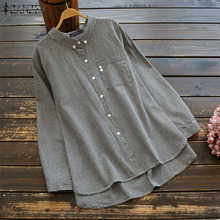 Women Blouse Shirt Ladies Vintage Check Plaid Tops Casual Loose Lapel Work Office Ladies Blusas Chemise Femme Vintage Tunic Tops цена и фото