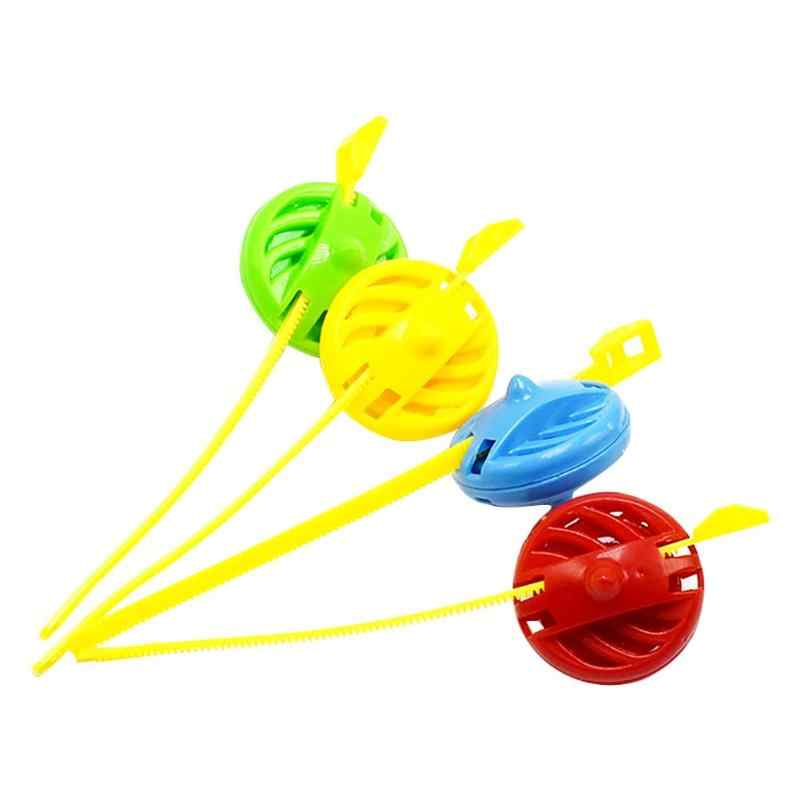 Plastic Pull Rotary Gyro Tol Gyroscopische UFO Plastic Pull Rotary Gyro Tol Vechten Gyroscopische DIY Speelgoed