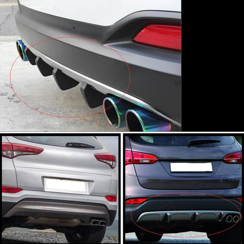 Image 5 - 4pcs Durable PVC Car Rear Bumper Diffuser Scratch Protector Cover Molding Trim Car Styling Decals Auto Accessories-in Bumpers from Automobiles & Motorcycles