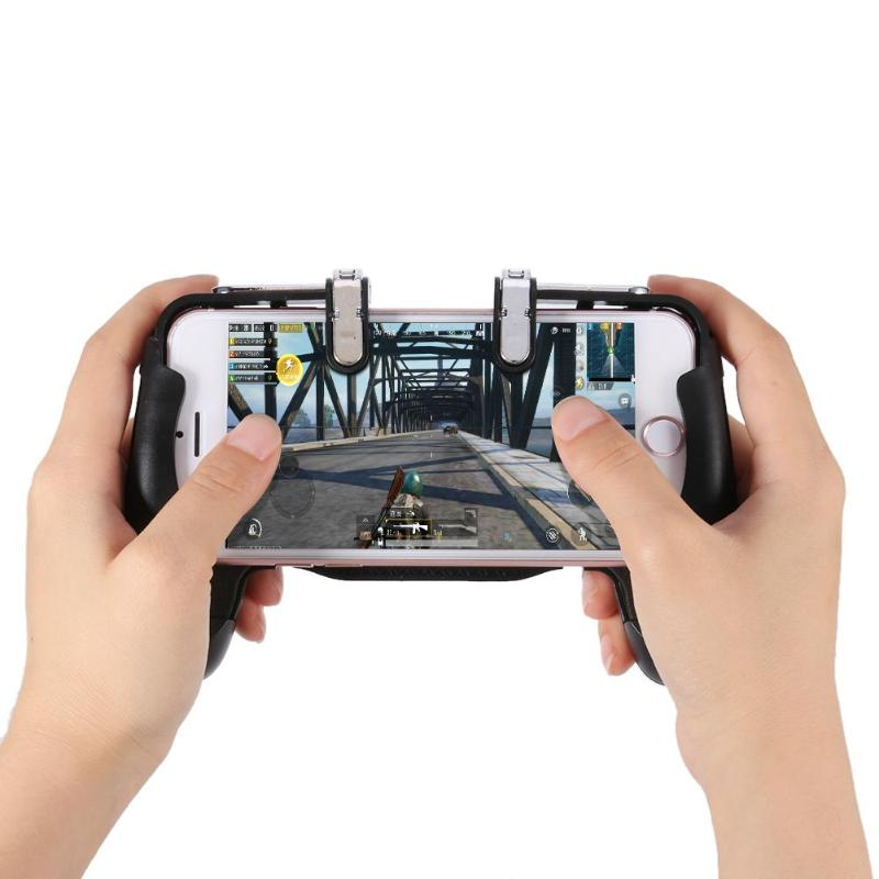 Mobile Phone Game Controller Joystick for PUBG Trigger Gamepad Shooter Trigger Fire Button Key and Handle for iPhone Sumsung