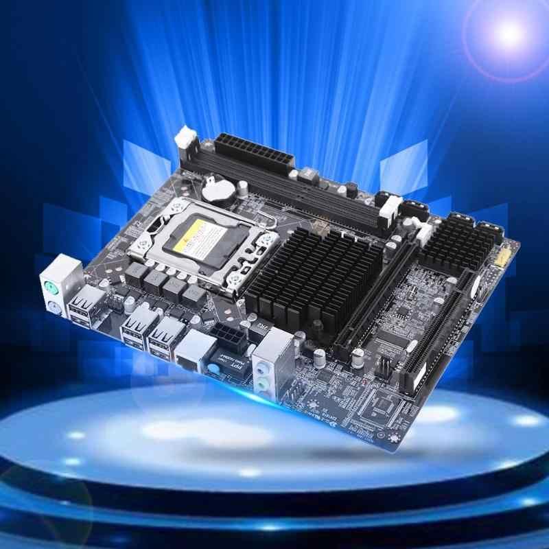 X58 системная материнская плата для стационарного компьютера 1366Pin Поддержка кода коррекции ошибок Quad-Core гекса-Core для Intel X58 для ICH10 Чипсет LGA1366 для i3/i5/i7