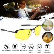Модные UV400 антибликовые поляризованные очки ночного видения из сплава с прозрачным зажимом для носа для вождения мужчин
